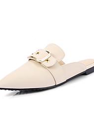 Slippers & Flip-Flops Spring Summer Fall Slingback PU Dress Casual Flat Heel Buckle