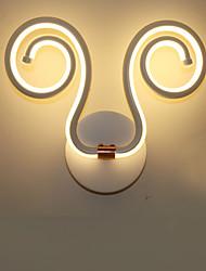 AC 100-240 24 Led Integrado Moderno/Contemporâneo Pintura Característica for LED Lâmpada Incluída,Luz Ambiente Arandelas LED Luz de parede