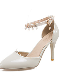 Women's Sandals D'Orsay & Two-Piece PU Office & Career Party & Evening Dress Stiletto Heel Rhinestone