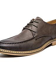 Svatební obuv-mikrovlákno-Pohodlné Společenské boty-Pánské-Černá Žlutá Khaki-Svatba Kancelář Běžné Party-Plochá podrážka