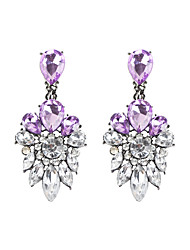 Drop Earrings Crystal Alloy Fashion Bohemian Drop Blue Pink+White Jewelry Daily Casual 1 pair