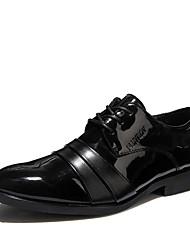 Da uomo-Oxford-Matrimonio Ufficio e lavoro Casual Serata e festa-Comoda Scarpe formali-Piatto-Pelle-Nero