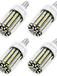 8W E14 LED corn žárovky T 136 SMD 5733 700 lm Chladná bílá AC 220-240 V 4 ks