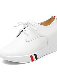 Feminino-Oxfords-Sapatos clube-Plataforma-Branco Preto-Couro Ecológico-Escritório & Trabalho Social Festas & Noite