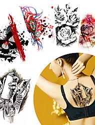 Tatuagens Adesivas Séries Animal Séries Totem não tóxica Estampado Halloween Lombar Á Prova d'água Desenhos AnimadosFeminino Masculino