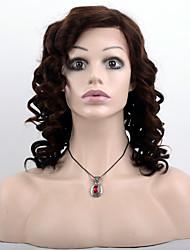 T1b / bruine kleur kant voor menselijk haar pruiken-lijmloze losse golf 100% Peruaanse onbehandeld haar kant pruiken met adjustalbe riemen