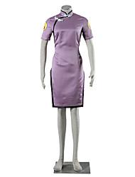 Inspirovaný Naruto Hinata Hyuga Anime Cosplay kostýmy Cosplay šaty Jednobarevné Fialová Krátké rukávy Cheongsam Pro