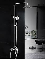 Zeitgenössisch Art déco/Retro Modern Duschsystem Regendusche Breite spary Handdusche inklusive with  Keramisches VentilZwei Griffe Zwei
