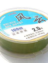 100/110 יארד Monofilament חוט דיג ירוק 80LB 2.5 mm ל דיג כללי