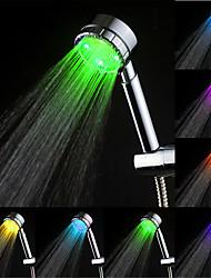Současné Ruční sprcha Pochromovaný vlastnost for  LED Déšť Šetrný vůči životnímu prostředí , Sprchová hlavice