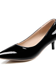 Women's Heels Spring Fall Slingback Patent Leather Casual Stiletto Heel