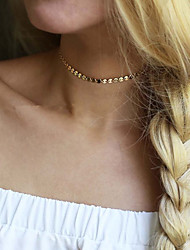 Alloy Round Necklace Non Stone Choker Necklaces Jewelry Wedding Party Special Occasion Halloween Engagement Daily Casual RoundBasic Design Unique