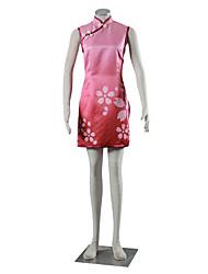Inspirovaný Naruto Sakura Haruno Anime Cosplay kostýmy Cosplay šaty Šaty Jednobarevné Růžová Cheongsam Pro