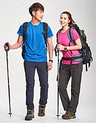 Unissexo Camiseta Camisa + Shorts Blusas Esqui Respirável Permeável á Humidade Redutor de Suor VerãoCinzento Azul Rosa Escuro Fúcsia