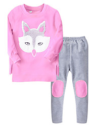 Girls' Going out Casual/Daily School Solid Sets,Cotton All Seasons Sleeveless Clothing Set
