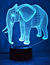 חג המולד פילים עמעום 3D הוביל לילה אור 7 צבעוני קישוט האווירה המנורה חידוש תאורה חג המולד
