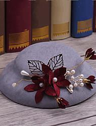 Liga Tecido Capacete-Casamento Ocasião Especial Casual Ao ar Livre Chapéus 1 Peça