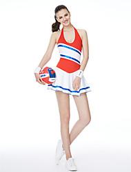 Kostýmy pro roztleskávačky Šaty Dámské Výkon Modální Barevné bloky Jeden díl Bez rukávů Šaty 95