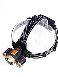 Lanternas de Cabeça Capa para Bateria Lumens Modo Cree T6 18650.0 USB RecarregávelCampismo / Escursão / Espeleologismo Uso Diário