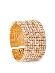 Women's Cuff Bracelet Tennis Bracelet Fashion Copper Rhinestone Circle Jewelry For Party Special Occasion Halloween Birthday 1pc