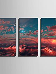 Fantasia Modern Stile europeo,Tre Pannelli Tela Verticale Stampa artistica Decorazioni da parete For Decorazioni per la casa