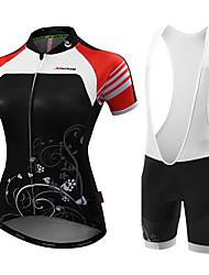 MALCIKLO® Camisa com Shorts para Ciclismo Mulheres Manga Curta MotoRespirável Design Anatômico Permeável á Humidade Alta Respirabilidade