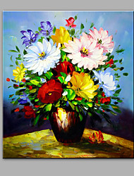 Hand-Painted Abstract The Lush Flowers  Modern One Panel Canvas Oil Painting For Home Decoration
