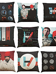 Set of 9 Twenty One Pilots pattern Linen Pillowcase Sofa Home Decor Cushion Cover