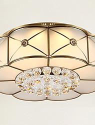 Takmonteret ,  Tradisjonell / Klassisk Messing Funktion for Krystal LED Metal Stue Soveværelse Spisestue