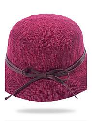 Dámské Na běžné nošení Léto Sluneční klobouk,Jednobarevné Słomka