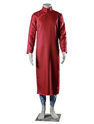 קיבל השראה מ Naruto Gaara אנימה תחפושות קוספליי חליפות קוספליי אחיד אדום כחול שרוולים ארוכים Cheongsam מכנסיים ל