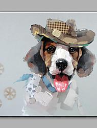 מצויר ביד מופשט בעלי חיים מרובע,מודרני פנל אחד בד ציור שמן צבוע-Hang For קישוט הבית
