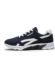 Atletik Ayakkabılar-Rahat-Rahat-Tül-Düz Topuk-Siyah Gri Mavi-Erkek