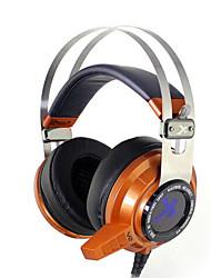 xiberia V2N 7.1 gaming hovedtelefoner end øre førte lys vibrationer stereo headset pc gamer computer super bas glød øretelefoner med