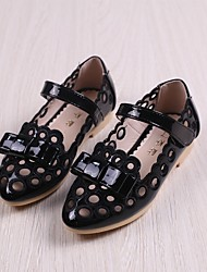 Girls' Flats Spring Fall First Walkers Leatherette Outdoor Casual Low Heel Magic Tape Walking