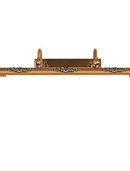 Mirror Lamp 80CM 15W LED Integrated  Traditional Vintage Antique Brass Feature for LED