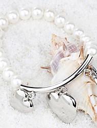 Women's Strand Bracelet Pearl Movie Jewelry Fashion Luxury Pearl Titanium Steel Heart Geometric Love White Jewelry ForWedding Party