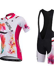 Camisa com Bermuda Bretelle Mulheres Manga Curta Moto Camisa/Roupas Para Esporte Shorts Acolchoados Tights BibSecagem Rápida Design