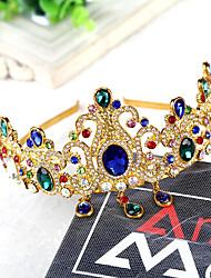 진주 라인석 합금 투구-웨딩 특별한날 왕관