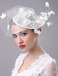 Lace Pearl Flax Net Headpiece-Wedding Special Occasion Fascinators Birdcage Veils 1 Piece