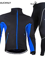 Nuckily Cyklodres a čapáky Pánské Unisex Dlouhé rukávy Jezdit na kole Sady oblečeníVoděodolný Zahřívací Rychleschnoucí Anatomický design