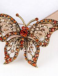 נשים תפס לשיער קריסטל ריינסטון עיצוב מיוחד אופנתי אבן יקרה Bowknot Shape זהב תכשיטים ל חתונה Party יומי