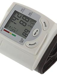 # שורש כף יד מוניטור לחץ דם ידני תצוגת LCD תצוגת זמן חשמל נטען מחדש Plastic