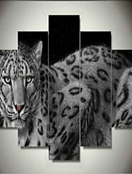 Impresiones de Arte Animal Modern,Cinco Paneles Horizontal lámina Decoración de pared For Decoración hogareña