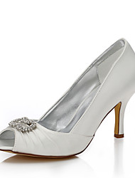 Women's Dyeable Wedding Shoes Spring Summer Comfort Club Shoes Silk Wedding Outdoor Office & Career Dress Party & EveningStiletto