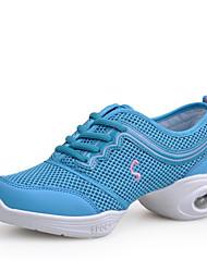 Sapatos de Dança(Fúcsia Rosa/Preto Preto e Dourado Azul) -Feminino-Não Personalizável-Tênis de Dança