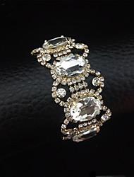 בגדי ריקוד נשים צמידי חפתים עבודת יד סגסוגת Circle Shape Oval Shape כסף תכשיטים ל חתונה Party אירוע מיוחד יום הולדת ארוסים 1pc
