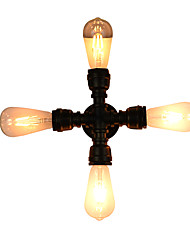 Qsgd ac220v-240v 8w e27 levou luz swall luz levou wall sconces parede parede de ferro lâmpada dumb preto lightsaber lâmpada na parede