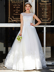 2017 LAN TING BRIDE Ball Gown Wedding Dress - Elegant & Luxurious Lacy Look Floor-length Jewel Tulle with Appliques Beading