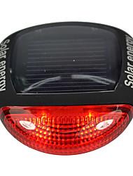 Zadní světlo na kolo bezpečnostní odrazky LED Cyklistika Upozornění Lumenů Solární Červená Cyklistika